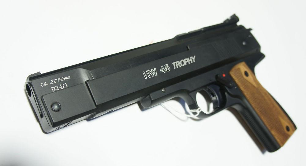 exclusiv bei Waffen Schlottmann: Luftpistole HW45 mit Sattel für Leuchtpunktvisier